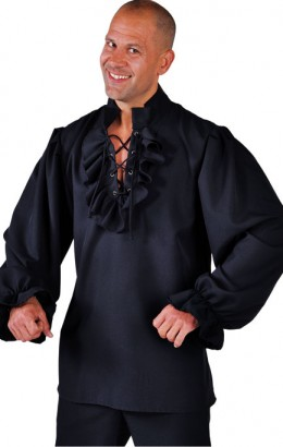 Blouse zwart met touwtjes