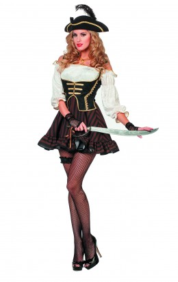 Piraten jurk bruin