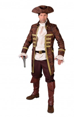 Heren piraten jas bruin