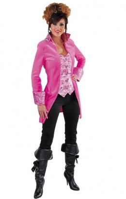 Jas piraat velours roze