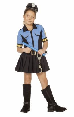 Politie meisje blauw