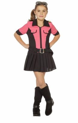 Politie meisje roze