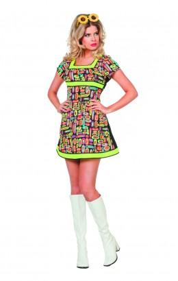 Neon popart jurkje