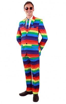 Kostuum Regenboog 3-delig