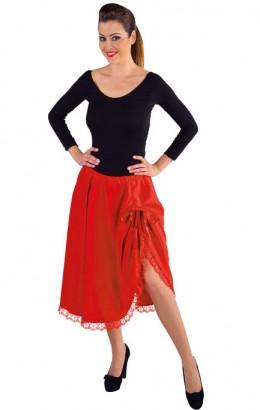 Luxe rok met kant en strik rood