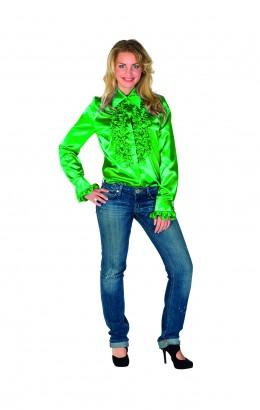 Ruchesblouse groen