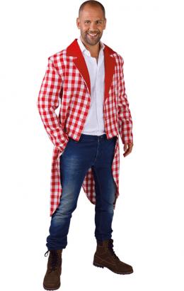Slipjas brabants bont rood wit geruit