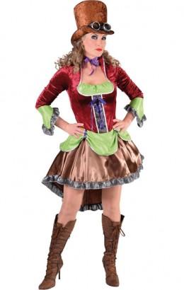 Steampunk jurk velour