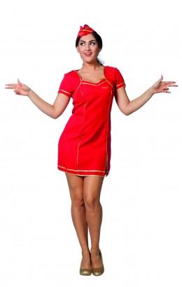 Stewardess dames rood