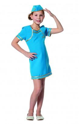 Stewardes jurkje blauw