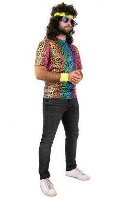T-shirt panterprint neon unisex