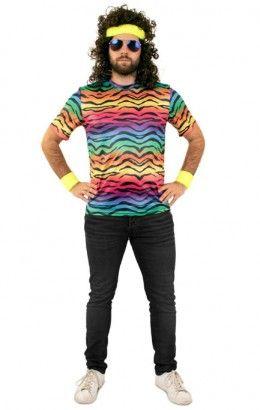 T-shirt tijgerprint neon unisex