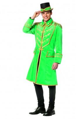 Mooie luxe jas velvet green heren