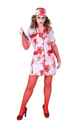 halloween verpleegstersjurkje met bloed