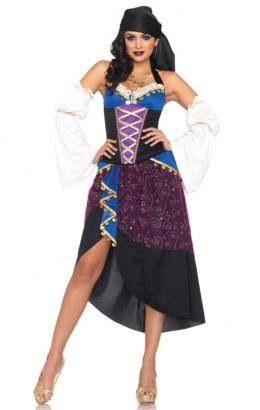 Zigeunerin / waarzegster jurk